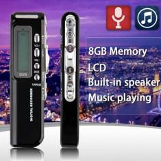 Raldio Microfon spion reportofon digital 8GB mp3player