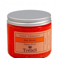 Sare Exfolianta pentru Corp TREETS cu Extract de Papaya 300 gr