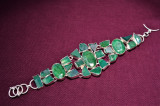 Bratara cu marcaj Argint 925 si pietre veritabile smaralde verzi mina SAKÖTA