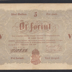 A5701 Hungary Ungaria 5 forint 1848