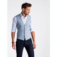 Vesta premium, eleganta, barbati - V50-albastru-deschis