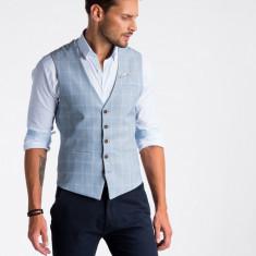 Vesta premium eleganta barbati V50 albastru deschis