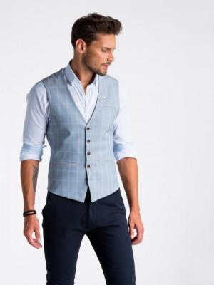 Vesta premium, eleganta, barbati - V50-albastru-deschis foto