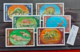TS21 - Timbre serie Bulgaria - 1990 Dinozauri, Stampilat