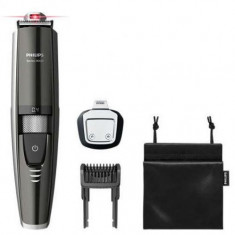 Masina de tuns barba Philips BT9297/15, Lame 100% metal, Ghidaj Laser, 0.4 - 7 mm, 17 Trepte (Negru/Argintiu)