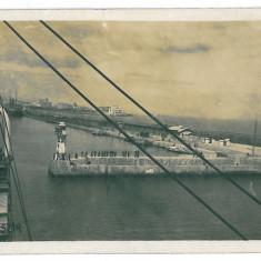 3530 - CONSTANTA, Harbor, ship - old postcard, CENSOR, real PHOTO - used - 1918, Circulata, Fotografie