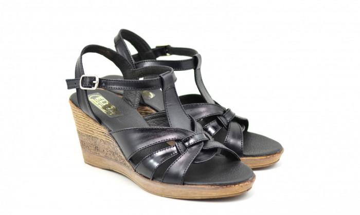 Sandale dama din piele naturala cu platforma - S15ELYN