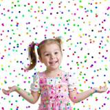 Tun confetti buline multicolore, 20 cm