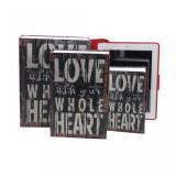 Set trei carti seif Love Autentic HomeTV