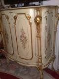 comoda baroc venetian,vintage,Italia,raritate, 1m inaltime,pictura manuala,foita