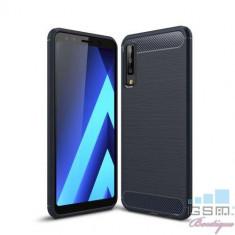 Husa Samsung Galaxy A7 2018 TPU Carbon Albastra