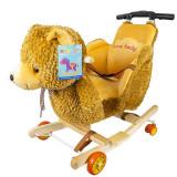 Balansoar pentru bebelusi, Ursulet, lemn + plus, cu rotile, China