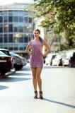 Rochie LaDonna by Catalin Botezatu roz cu franjuri