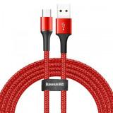 Cumpara ieftin Cablu de date/incarcare Baseus, Halo Durable Nylon Braided, Micro USB 3M 2 A, Rosu