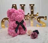 Cumpara ieftin Ursulet de trandafiri 25cm Roz
