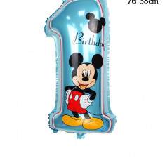 Balon folie cifra 1 Mickey Mouse Disney - 72x30cm mare