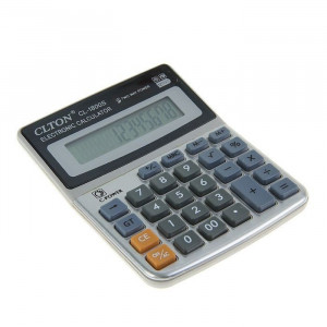 Calculator de birou, 12 digits, alimentare duala, display LCD, ABS