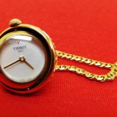 Tissot ceas-medalion damă giroclinometric cu lănțișor placat (75 cm), Quartz