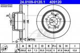 Disc frana MERCEDES E-CLASS (W124) (1993 - 1995) ATE 24.0109-0120.1