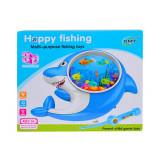 Joc de pescuit in forma de delfin cu lumina si muzica, pentru copii