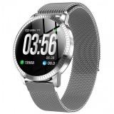 Bratara Smartwatch CF18 Techstar®, Waterproof P68, Eleganta, Multiple Functii Fitness, Notificari iOS, Android, Puls, Silver