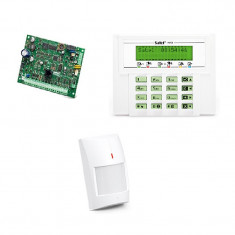 Kit sistem de alarma wireless cablat Satel, senzor PIR AMBER