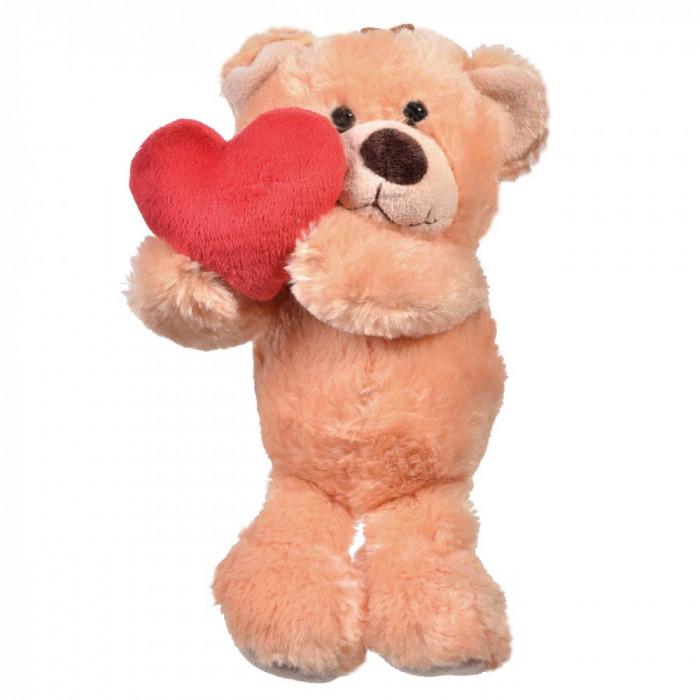 Ursulet Maro cu Inimioara Rosie in Mana - 30 cm