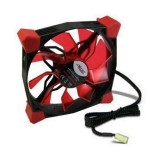 Ventilator Inter-Tech CobaNitrox Xtended N-120-R 120mm cu iluminare rosie