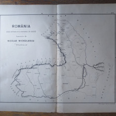 ROMANIA ,HARTA HOTARELOR SI IMPARTIREA PE JUDETE