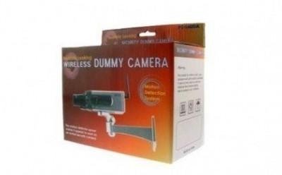 set  4 buc camera falsa motorizata  senzor  miscare  motoras  intimideaza hotii foto