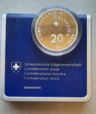 Moneda tematica de argint - 20 Francs 2012, Elvetia - Proof foto