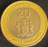 Moneda exotica - bimetal 20 DOLARI - JAMAICA, anul 2000 *cod 4896 B, America de Nord