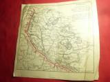 2 Harti Militare ww1-Situatia Frontului la14febr si martie1918 Romania 23,5x23cm