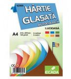 Hartie Glasata Autocolanta lucioasa Ecada, 6 file/set