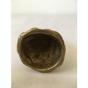 Figurina din bronz, inger-suport lumanari, deosebita, miniatura, 6,5 cm inaltime