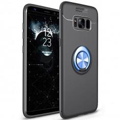 Husa Spate Silicon Premium Iring Metalic Upzz Samsung Galaxy S8 Cu Ring Metalic Pe Spate Negru Blue