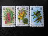 Serie timbre fauna animale flora flori nestampilate  timbre filatelice postale
