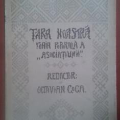 revista tara noastra 1907 anul 1 nr 25 redactor octavian goga