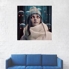 Tablou Canvas, Ochi rosii. Portret - 20 x 20 cm