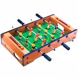 Joc masa de fotbal din lemn, 50x31x10 cm, multicolor