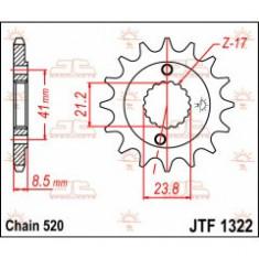Pinion fata otel JT Sprockets 520 Z14 Cod Produs: MX_NEW JTF132214PE