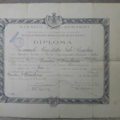 Diploma absolvire// Scoala Politechnica Bucuresti, 1927