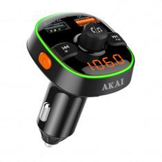 Modulator FM Akai FMT-52BT, Bluetooth, USB, functie incarcator telefon, microfon incorporat, afisaj LED