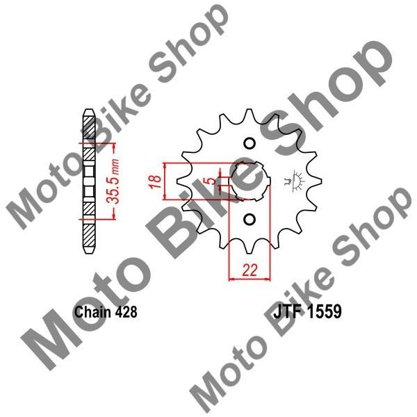 MBS Pinion fata 428 Z14, Cod Produs: JTF155914