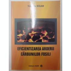 EFICIENTIZAREA ARDERII CARBUNILOR FOSILI de VALENTINA BALAN , 2009