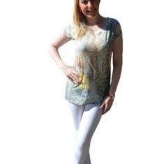 Tricou de marime universala, model casual cu imprimeu