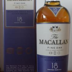 Whisky Macallan 18 ani  fine oak 43%, sigilat, timbru