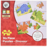 Set 3 puzzle din lemn - Dinozauri, Bigjigs