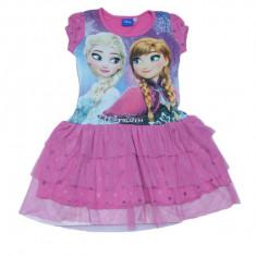 Rochie cu imprimeu Frozen Setino FR-G-DRESS-05R, Multicolor