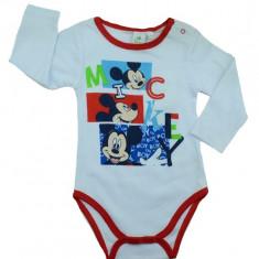 Body cu maneca lunga pentru baietei Mickey Mouse-DISNEY NH0388-R, Rosu